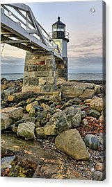 Marshall Point Light From The Rocks Acrylic Print