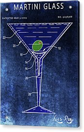 Martini Glass Design Acrylic Print