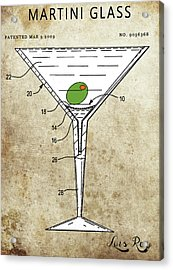 Martini Glass Patent Acrylic Print