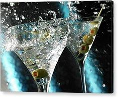 Martini Wild Splash Acrylic Print by Triton21