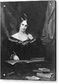 Mary Shelley Acrylic Print by Hulton Archive