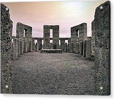 Maryhill Stonehenge Acrylic Print by Leland D Howard