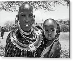 Masaai Mother And Child Acrylic Print