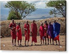 Maasai Men Acrylic Print