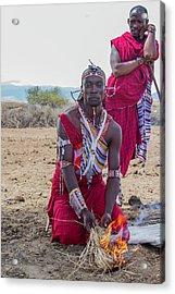 Maasai Warrior Acrylic Print