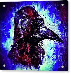 Acrylic Print featuring the mixed media Plague Mask 3 by Al Matra