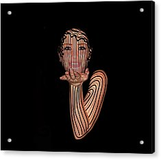 Mask Beautiful Aj Acrylic Print