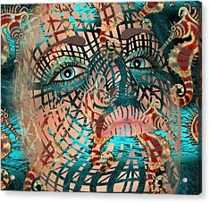 Mask Dreaming Of The Sea Acrylic Print