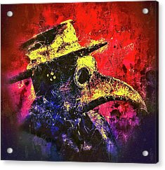 Acrylic Print featuring the mixed media Plague Mask  by Al Matra