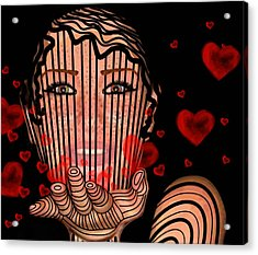 Mask Of Valentine Acrylic Print