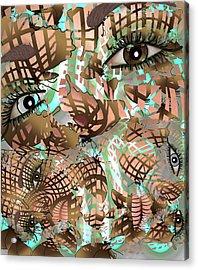 Mask Past Present Future Acrylic Print
