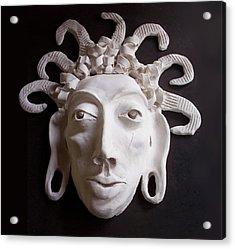 Mask The Aztec Acrylic Print