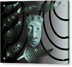 Mask The Maori Warrior Acrylic Print