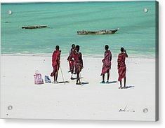 Massai At The Beach Acrylic Print