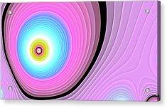 Massive Hurricane Pink Acrylic Print