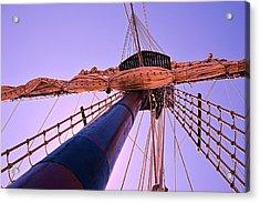 Mast And Sails Acrylic Print
