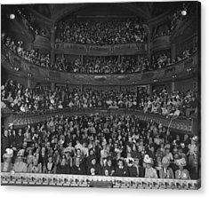 Matinee Audience Acrylic Print by London Stereoscopic Company
