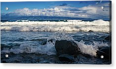 Maui Breakers Pano Acrylic Print