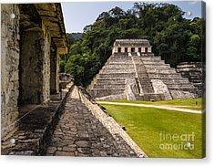 Mayan Ruins In Palenque, Chiapas Acrylic Print