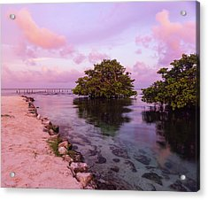 Mayan Sea Reflection Acrylic Print