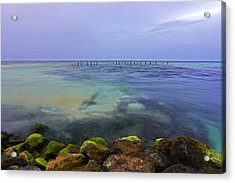 Mayan Sea Rocks Acrylic Print