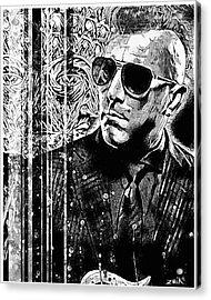 Maynard - Noir Series Acrylic Print by Bobby Zeik