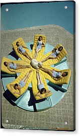 Mcculloch House-girls Sunbathing In Iden Acrylic Print