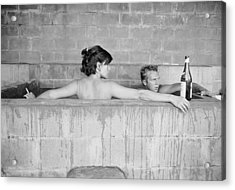 Mcqueen & Adams In Sulphur Bath Acrylic Print by John Dominis