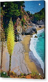 Mcway Falls With Blooming Yucca Acrylic Print