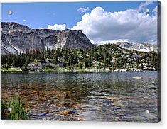 Medicine Bow Peak And Mirror Lake Acrylic Print