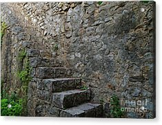 Medieval Wall Staircase Acrylic Print