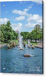 Meeting Of The Waters Fountain Acrylic Print