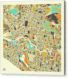 Melbourne Map 1 Acrylic Print