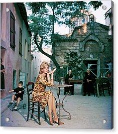 Melina Mercouri Acrylic Print by Slim Aarons