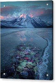 Melt, Freeze, Repeat / Late Winter / Lake Mcdonald, Glacier National Park  Acrylic Print