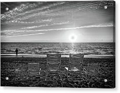 Acrylic Print featuring the photograph Memories In Black And White by Lynn Bauer
