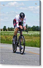 Acrylic Print featuring the photograph Mens Individual Time Trial No 1 by Brian Carson