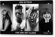 Acrylic Print featuring the digital art Mental Health Awareness - You Are Not Alone by ISAW Company