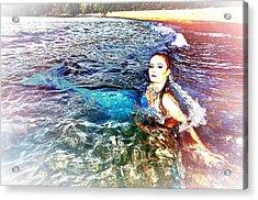 Mermaid Shores Acrylic Print