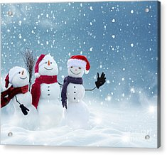 Merry Christmas And Happy New Year Acrylic Print