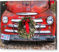 Merry Christmas Texas Acrylic Print