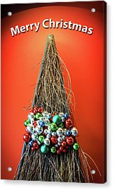Acrylic Print featuring the photograph Merry Christmas Twig Tree by Bill Swartwout Fine Art Photography