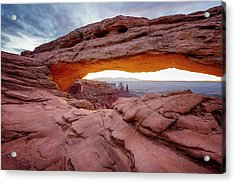 Acrylic Print featuring the photograph Mesa Sunrise Glow by Ryan Wyckoff