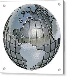Metal Earth, Artwork Acrylic Print by Ktsdesign