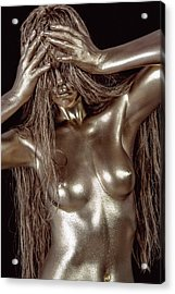 Iridescent Woman Acrylic Print by Matt Deifer