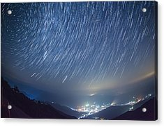 Meteor Acrylic Print by Tdubphoto