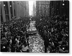 Mets Ticker Tape Parade Acrylic Print by Fred W. McDarrah