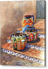 Mexican Pottery Still Life Acrylic Print