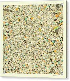 Mexico City Map 1 Acrylic Print