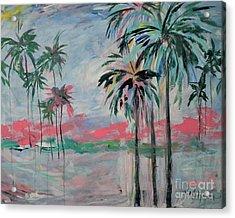 Miami Palms Acrylic Print